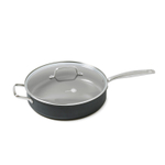 GreenPan Chatham Ceramic Nonstick Hard Anodized 5 Quart Covered Saute Pan with Helper Handle