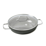 GreenPan Chatham Ceramic Nonstick Hard Anodized 11 Inch Covered Fry Pan with 2 Side Handles