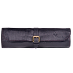 Boldric Black Leather 8 Slot One Buckle Knife Bag