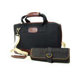 Boldric Black Canvas Cocktail Bag