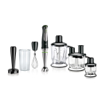 Braun Multiquick 9 Black Hand Blender with with 5 Piece Attachment Set