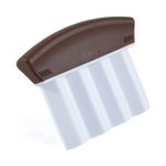 Wilton Brownie and Treat Fluted Edge Cutter with Brown Handle