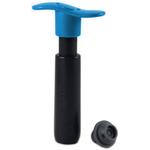 Le Creuset Marseille Blue Metal Wine Pump and 3 Stoppers