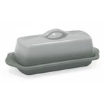 Chantal Fade Grey Ceramic 8.5 Inch Full-Size Butter Dish