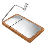 Prodyne Beechwood and Stainless Steel Cheese Slicer Board