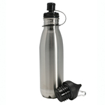 Danesco H2O Stainless Steel Reusable Eco Bottle, 27 Ounce