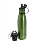 Danesco H2O Green Stainless Steel Reusable Eco Bottle, 27 Ounce