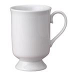 HIC Harold Import Co White Porcelain 9 Ounce Pedestal Mug