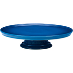 Le Creuset Marseille Blue Stoneware Cake Stand