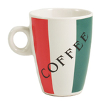 Colors of Italy Coffee Mug Cup 4 PC Set Big 10 Oz Size