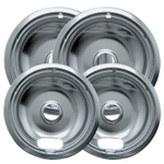 Range Kleen Chrome 4 Piece Style A Drip Bowl Set