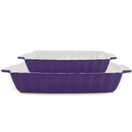 Rectangular Bakeware 2 Piece Set Purple Large & Small