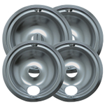 Range Kleen Chrome 4 Piece Style B Drip Bowl Set