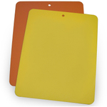 Linden Sweden Daloplast Bendy Yellow and Orange Flexible Cutting Board, Set of 2