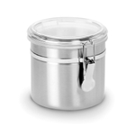 Anchor Hocking Stainless Steel and Acrylic 38 Ounce Clamp Top Canister