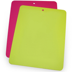 Linden Sweden Daloplast Bendy Lime and Pink Flexible Cutting Board, Set of 2