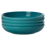 Le Creuset Caribbean Stoneware 8.5 Inch Pasta Bowl, Set of 4