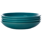 Le Creuset Caribbean Stoneware 9.75 Inch Pasta Bowl, Set of 4