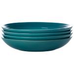 Le Creuset Caribbean Stoneware 9.75 Inch Pasta Bowl, Set of 4
