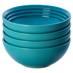 Le Creuset Caribbean Stoneware 22 Ounce Soup Bowl, Set of 4