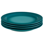 Le Creuset Caribbean Stoneware 10.5 Inch Dinner Plate, Set of 4