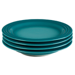 Le Creuset Caribbean Stoneware 8.5 Inch Salad Plate, Set of 4