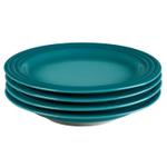 Le Creuset Caribbean Stoneware 8.5 Inch Salad Plate, Set of 4