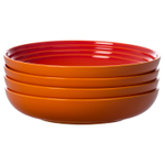 Le Creuset Flame Stoneware 8.5 Inch Pasta Bowl, Set of 4