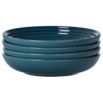 Le Creuset Marine Stoneware 8.5 Inch Pasta Bowl, Set of 4