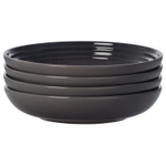 Le Creuset Oyster Stoneware 8.5 Inch Pasta Bowl, Set of 4