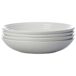 Le Creuset White Stoneware 9.75 Inch Pasta Bowl, Set of 4