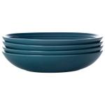 Le Creuset Marine Stoneware 9.75 Inch Pasta Bowl, Set of 4