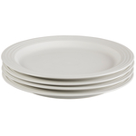 Le Creuset White Stoneware 11.25 Inch Dinner Plate, Set of 4