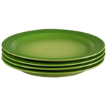 Le Creuset Palm Stoneware 11.25 Inch Dinner Plate, Set of 4