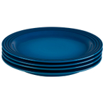 Le Creuset Marseille Stoneware 11.25 Inch Dinner Plate, Set of 4