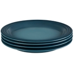 Le Creuset Marine Stoneware 11.25 Inch Dinner Plate, Set of 4