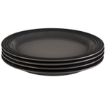Le Creuset Oyster Stoneware 11.25 Inch Dinner Plate, Set of 4