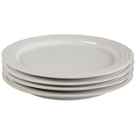Le Creuset White Stoneware 10.5 Inch Dinner Plate, Set of 4
