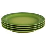 Le Creuset Palm Stoneware 10.5 Inch Dinner Plate, Set of 4