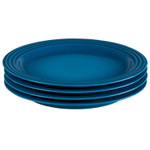 Le Creuset Marseille Stoneware 10.5 Inch Dinner Plate, Set of 4