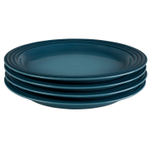 Le Creuset Marine Stoneware 10.5 Inch Dinner Plate, Set of 4