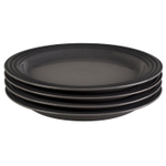 Le Creuset Oyster Stoneware 10.5 Inch Dinner Plate, Set of 4