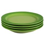 Le Creuset Palm Stoneware 8.5 Inch Salad Plate, Set of 4