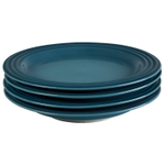 Le Creuset Marine Stoneware 8.5 Inch Salad Plate, Set of 4