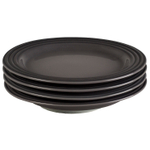 Le Creuset Oyster Stoneware 8.5 Inch Salad Plate, Set of 4