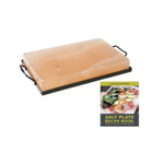 Charcoal Companion 12 x 8 Inch Himalayan Salt Plate and Holder with Recipe Book