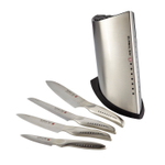 Global SAI 5 Piece Stainless Steel Knife Block Set