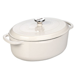Lodge Oyster White Enameled Cast Iron 7 Quart Dutch Oven