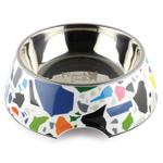 French Bull Terrazzo Plastic 24 Ounce Medium Pet Bowl
