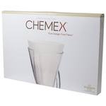 Chemex Bonded 13 Inch Unfolded Half Circle Coffee Filters, 100 Count